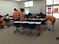 ところかわって、江井ケ島コミセンへ。はじめての書き方教室です!